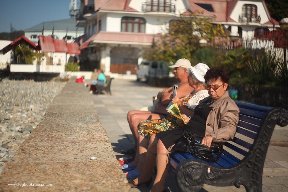 на пляже Хосты, Сочи