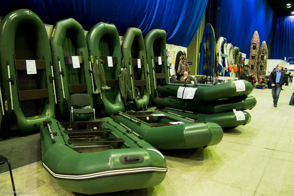 Резиновые лодки на выставке