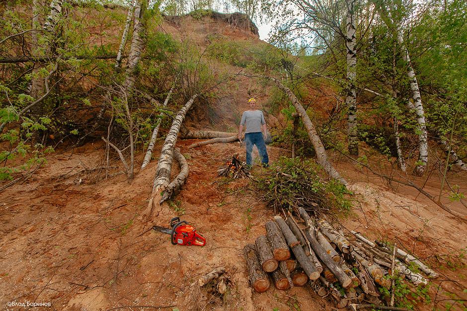 Сплав на деревянном плоту по реке Ветлуга в мае 2016 года